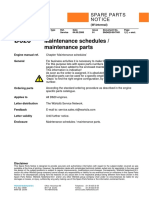 D620 Maintenance schedules and parts SND620-99-7001