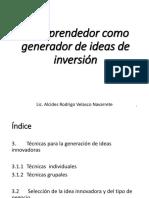 01 El emprendedor como generador de ideas de inversión