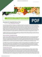 Vegetable Business Plan _ Vegetable Selling Business Plan