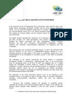 Quebec-Declaration of Eco Tourism