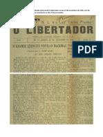 Artigo do Luiz Carlos Prestes publicado pelo jornal O Libertador no dia 22 de novembro de 1935