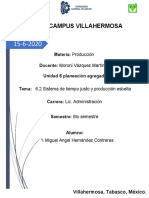TAREA - Tema - 6.2 Sistema de tiempo justo y producción esbelta