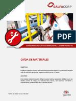 SSOMA-ME-RCO-02 CAÍDA DE MATERIALES