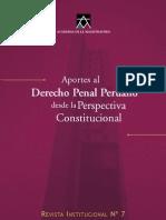 Aportes Al Derecho Penal Peruano Magistratura