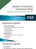 Computation of Common Vasoactive Drips