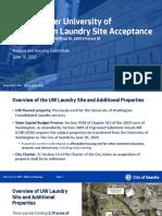 Mount Baker University of Washington Laundry Site Acceptance