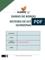 DIÁRIO DE BORDO - 1° SÉRIES
