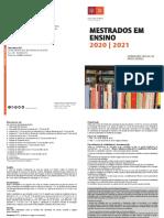 IE UMinho 2020_2021_IE_Mestrado em Ensino_Diptico