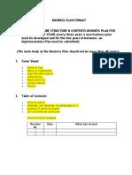 Business Plan Format by SEDA