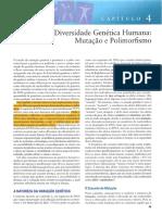 Cap.4 Diversidade Genética Humana
