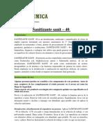 Ficha tecnica Sanitizante Sanit - 40