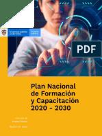 Plan Nacional de Formación y Capacitación 2020 - 2030 - Marzo de 2020