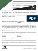 PROVA DE CIÊNCIAS 1 - 7° ANO - AB2