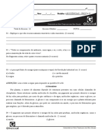 PROVA DE CIÊNCIAS 2 - 7° ANO - AB2
