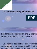 LA COMUNICACION Y SU CONTEXTO