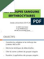 LES GROUPES SANGUINS ERYTHROCYTAIRES 2019-2020_Dr_ADIKO