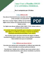 Manual de Como Usar a Planilha JOGO DO BICHO X LOTERIA FEDERAL.docx