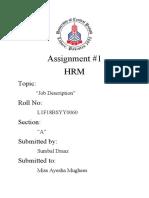 HRM Assignment 1