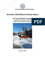 39th District Blizzard Cleanup Report