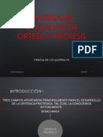 OyP - Clase 5 - Materiales utilizados en Ortopedia