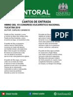 Cantoral DIMUSLI Septiembre 2019