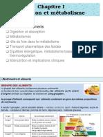 1-Nutrition Et Metabolisme Partie Nutriment Et Aliments (1)