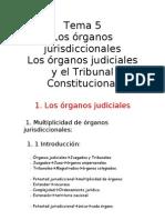 5. Los órganos jurisdiccionales. Los órganos judiciales y el Tribunal Constitucional