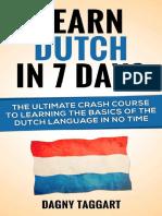 Learn Dutch In 7 DAYS!