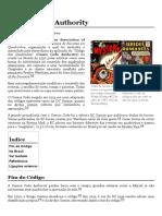 Comics Code Authority – Wikipédia, A Enciclopédia Livre