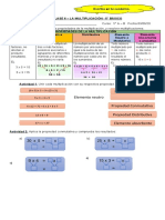 Actividades de Multiplicación 5° Básico