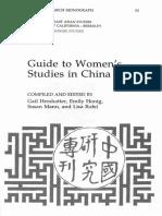 HERSHATTER, Gail et al. Guide to Women's Studies in China.pdf