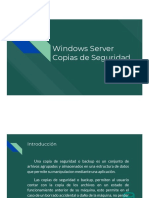 Servicios de Respaldo en  Windows Server