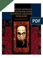 ab12 Documentación y Registro de las Colecciones del Museo Nacional de Antropología y Arqueología e Historia del Perú. Licenciada Sonia Quiroz Calle