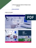 Link Página Web Foro Oficina de Seguridad y Salud en el Trabajo en Apoyo al Covid 19.docx