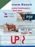 Upstream Ranch Commercial Cattlemen's Bull Sale Catalog 2011