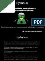 Syllabus ensamblador ingenieria inversa desarrolllo de exploits