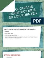 TIPOLOGIA DE LAS CIMENTACIONES DE PUENTES