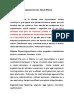 El Derecho como argumentación en Manuel Atienza