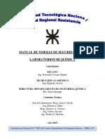 MANUAL DE SEGURIDAD PARA LABORATORIOS DE QUIMICA (Para Concurso  Propiedad Intelectual)