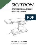 Skytron Elite 3500 Surgical Table - User manual.pdf