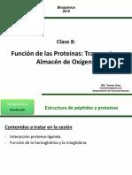 Clase 8 - Función de las ProteÃ_nas- Transporte y Almacén TS 2019-2 BQ