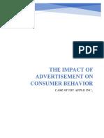 The Impact of Advertisement on Consumer Behavior