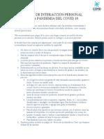 15.05 PROTOCOLO DE INTERACCIÓN PERSONAL