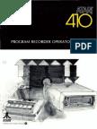 Atari 410 Program Recorder Operator's Manual (Atari)