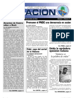 Boletin oficial del Partido Nacionalista Democratico de Cuba Volumen 1, Numero 4
