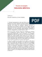 Dionisio Areopagita - Teologia mistica.doc