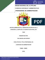 GESTIÓN ADMVA Y MARKETING DE SERVICIO EN LA ATENCIÓN AL CLIENTE