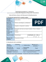 Guía de Ruta y Avance de Ruta para la Realimentación - Fase 1. Diagnóstico Solidario