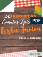 E-book 30 Receitas para Festa Junina
