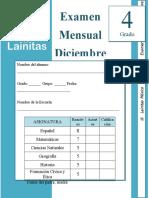 Diciembre - 4to Grado - Examen Mensual (2019-2020).docx